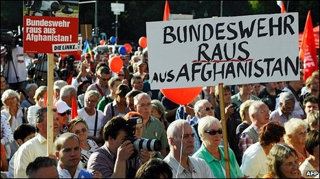 German anti-Afghan war demonstration