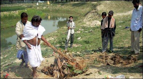 cremation in bihar