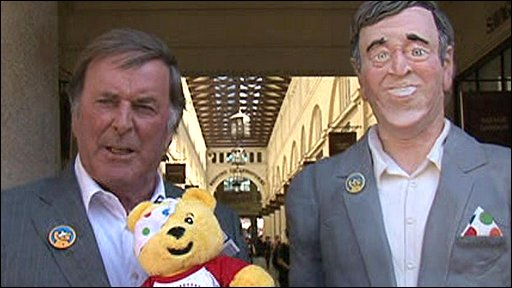 Terry Wogan with his cake double