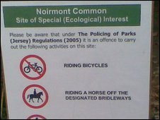Sign at Noirmont Common
