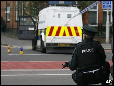 Police officer at scene of dissident alert in Belfast
