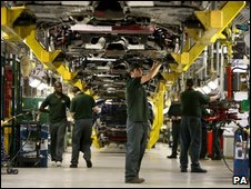 Jaguar XF production line in Castle Bromwich, Birmingham