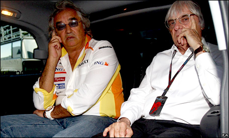 Briatore and Ecclestone at the Italian Grand Prix