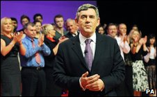 Applause for Gordon Brown