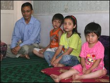 Sulton Ali and three of his children