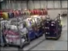 Mobile phone footage of alleged warehouse in Dartford