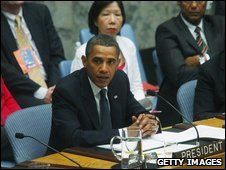 US President Barack Obama chairing the UN Security Council, 24 September 2009