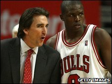 Vinny Del Negro and Luol Deng