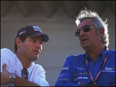 Mark Webber and Flavio Briatore