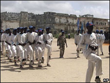 Anti-pirate forces training in Mogadishu