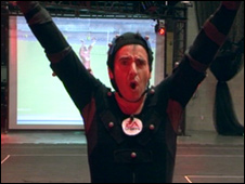 Richard Taylor in the motion capture suit