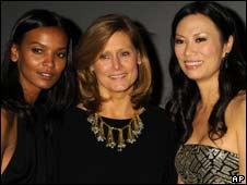 Sarah Brown, with Liya Kebede and Wendy Murdoch at a charity event this week
