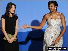 Carla Bruni Sarkozy and Michelle Obama