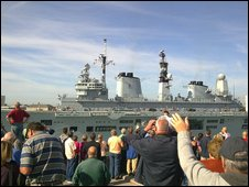 Ark Royal leaving Portsmouth on Friday