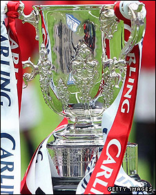 The Carling Cup trophy