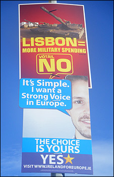 No and Yes posters in Dublin