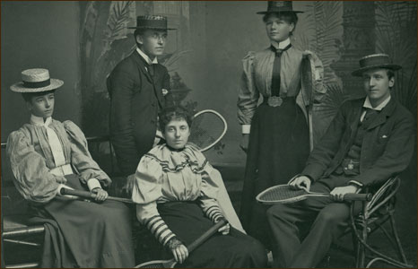 The university student tennis team of 1897
