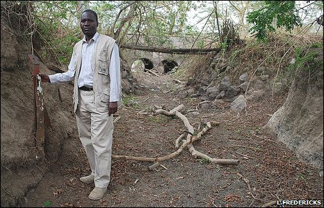 Bernard Kuloba stands in what was the River Njoro