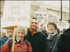 Ray (right) with her fellow campaigners