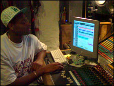 Duppy Beatz in the studio