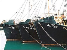Whaling boats
