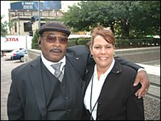 Drivers for the Canadian delegation, Tina Midili and Ronald Colman
