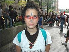Student and protestor, Marlo Barrera