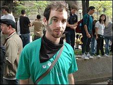 Student and G20 proteter, Sam Jewler