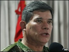 Colombian army chief Gen Freddy Padilla