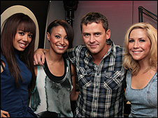 Sugababes and Scott Mills