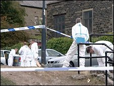 Scene of shooting in Haslingden