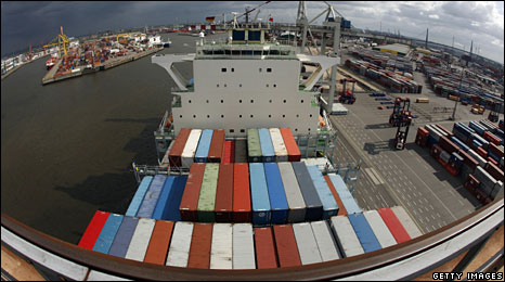 File photo of Hamburg harbour