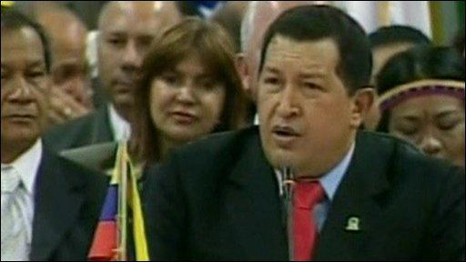 Venezuelan President, Hugo Chavez