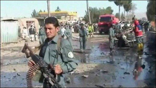 Bomb blast site