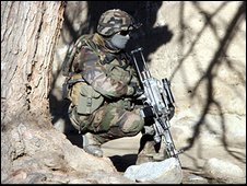 French soldier on patrol in Afghanistan. File photo
