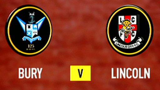 Highlights - Bury 2-2 Lincoln City