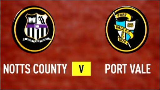 Notts County v Port Vale