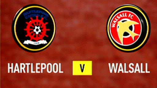 Highlights - Hartlepool 3-0 Walsall