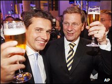 Guido Westerwelle with his partner Michael Mronz