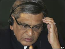 Indian foreign minister SM Krishna (File photo)