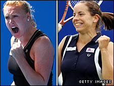 Elena Baltacha and Briton Katie O'Brien