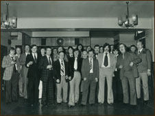 B shift from the potlines, celebrating Christmas at the social club in 1976