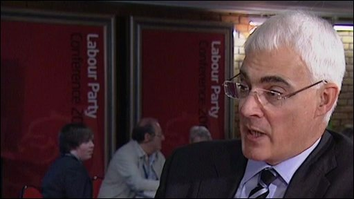 Alistair Darling in Brighton
