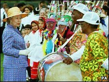 The Queen visiting Bermuda in 1994