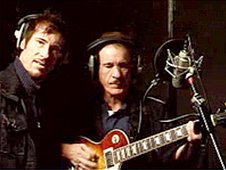 Sergio (left) and Enzo Calzaghe recording their track Summer Boy