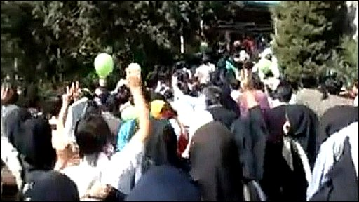 Amateur video of alleged protests in Iran