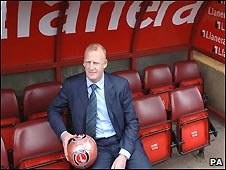 Iain Dowie in the dugout during his days in charge at Charlton