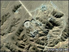 Satellite image by Digitalglobe shows Iranian suspected facility in Qom, Iran