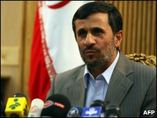 Mahmoud Ahmadinejad in Tehran, September 26