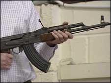 AK47 rifle